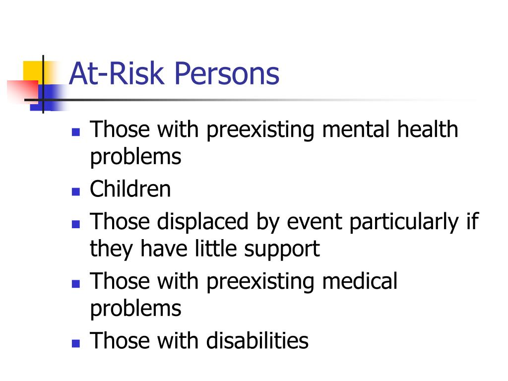 At-Risk Persons