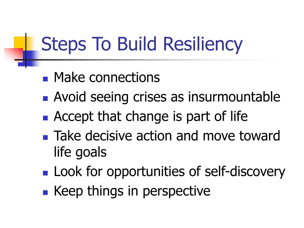 Steps To Build Resiliency
