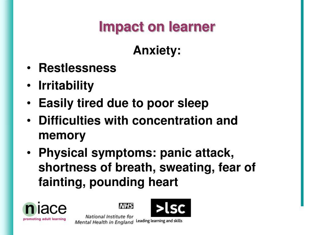 Impact on learner
