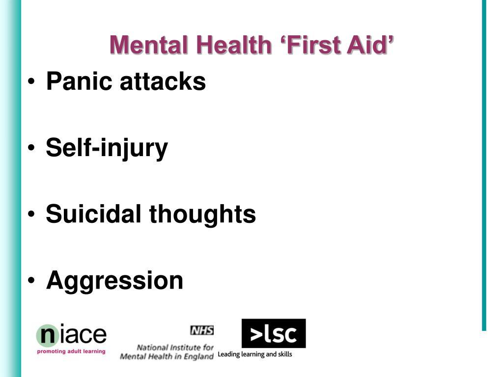 Mental Health 'First Aid'