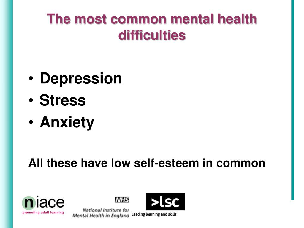 The most common mental health difficulties
