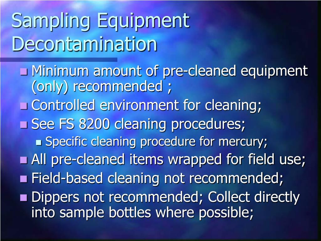 Sampling Equipment Decontamination