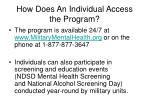 how does an individual access the program