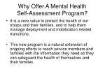 why offer a mental health self assessment program