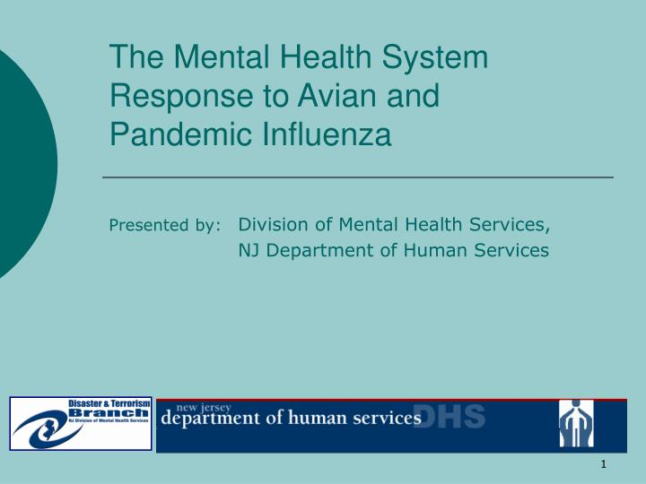 The mental health system response to avian and pandemic influenza
