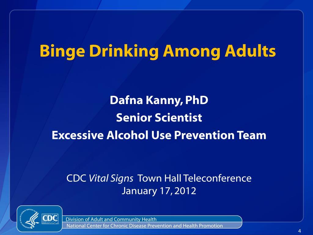 Binge Drinking Among Adults
