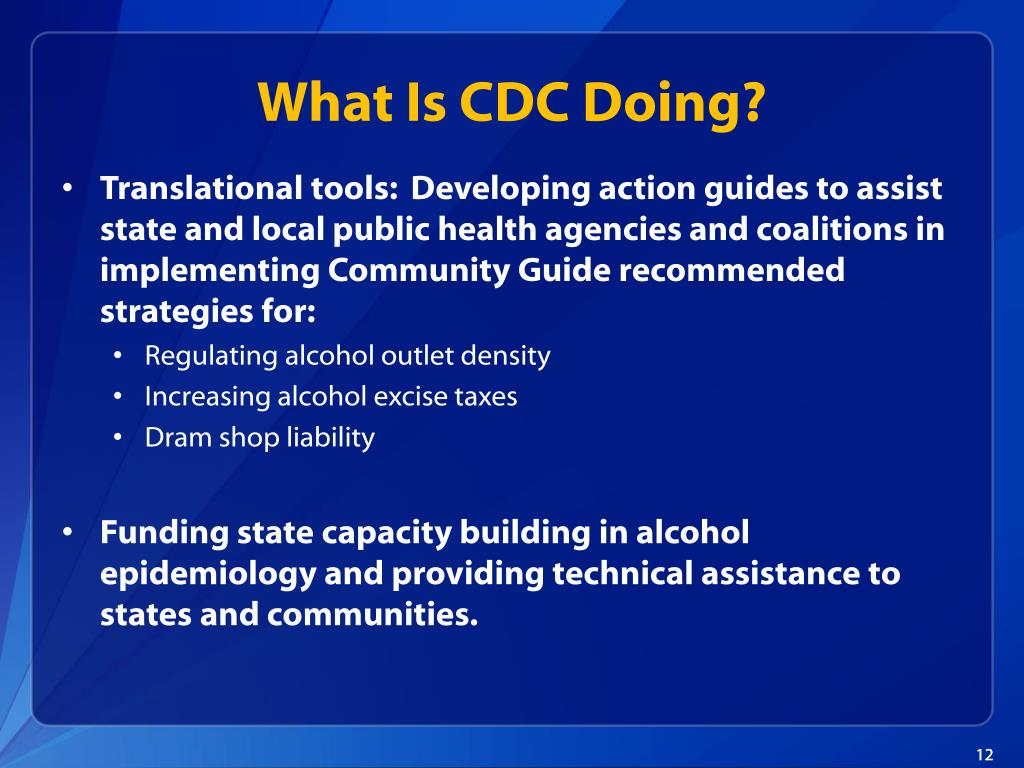 What Is CDC Doing?