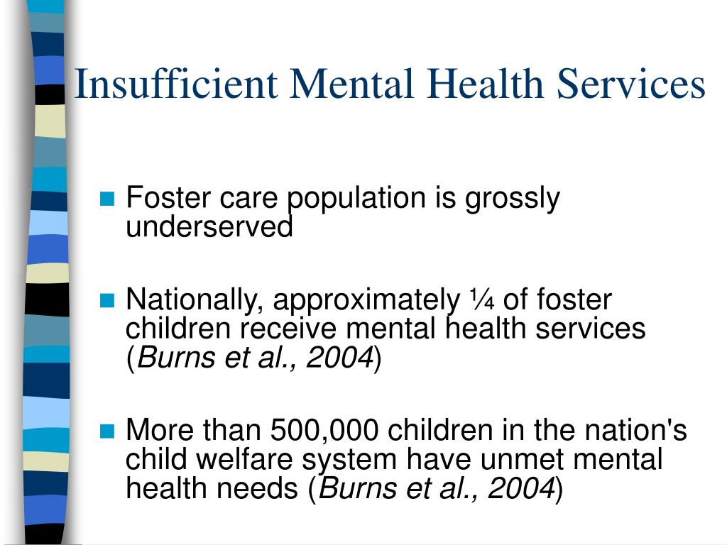 Insufficient Mental Health Services