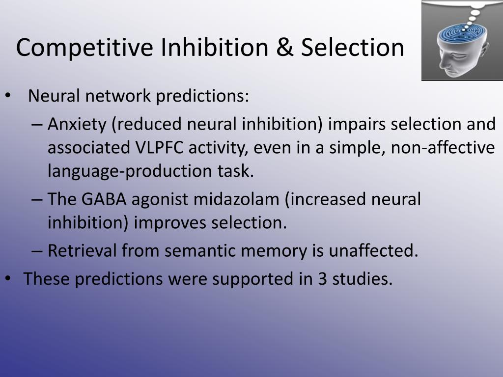 Competitive Inhibition & Selection