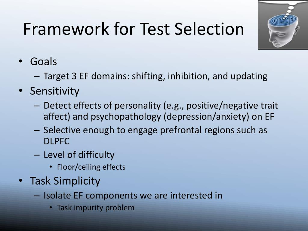 Framework for Test Selection