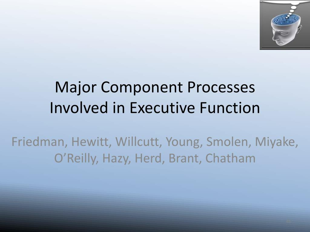 Major Component Processes Involved in Executive Function