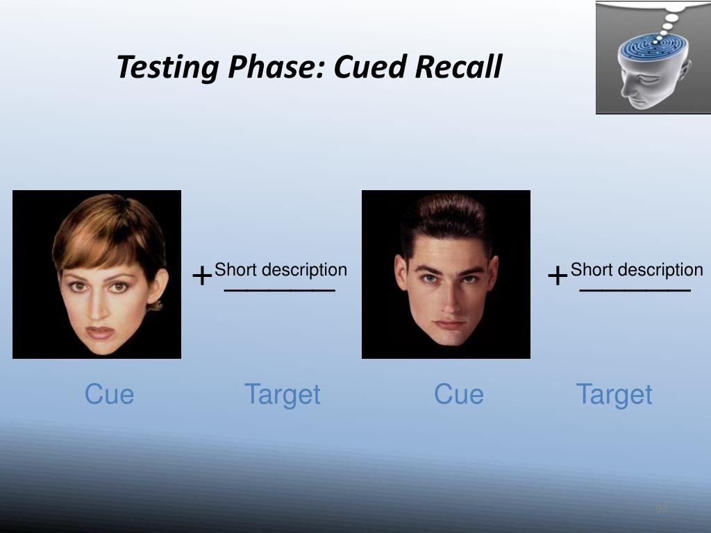Testing Phase: Cued Recall
