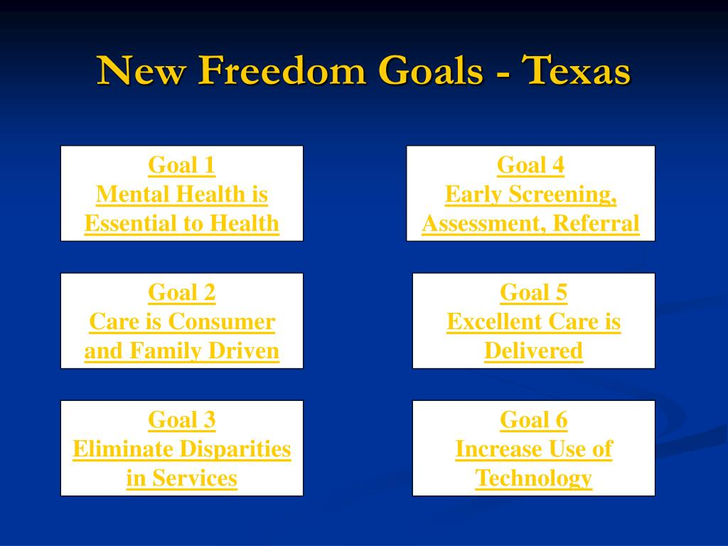 New Freedom Goals - Texas