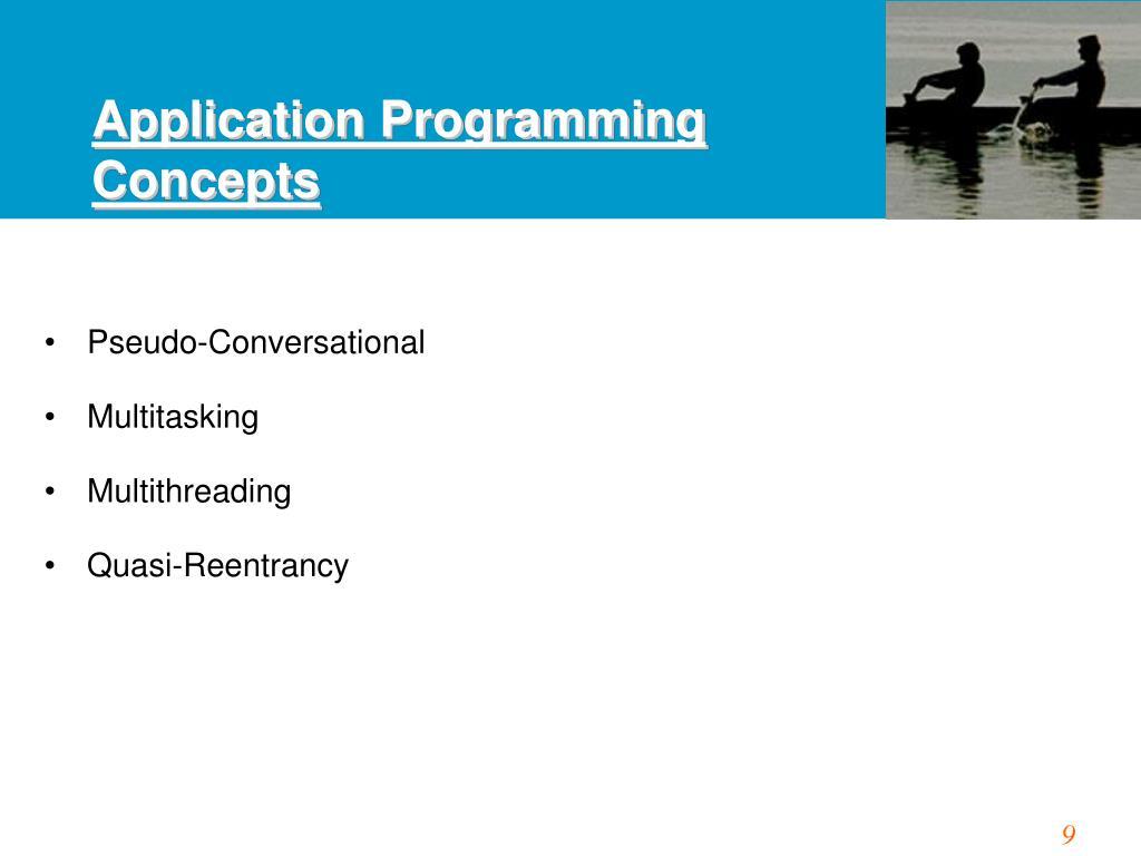 Application Programming Concepts