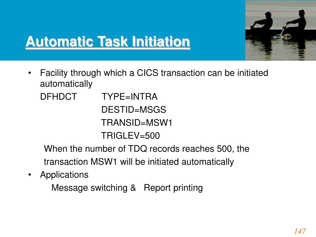 Automatic Task Initiation