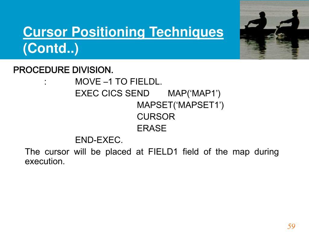 Cursor Positioning Techniques