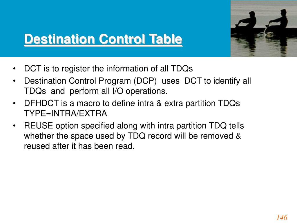 Destination Control Table