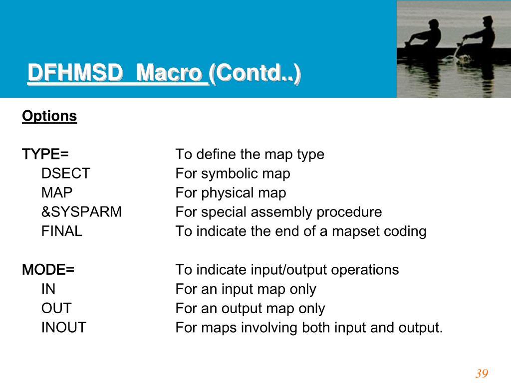 DFHMSD  Macro