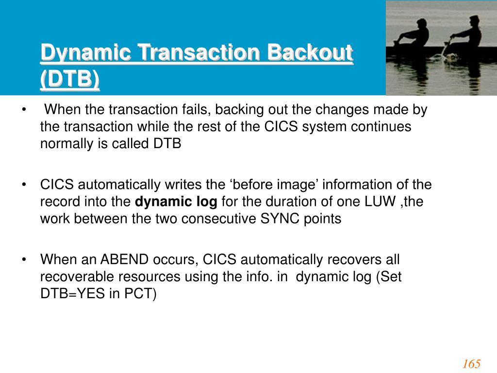 Dynamic Transaction Backout (DTB)