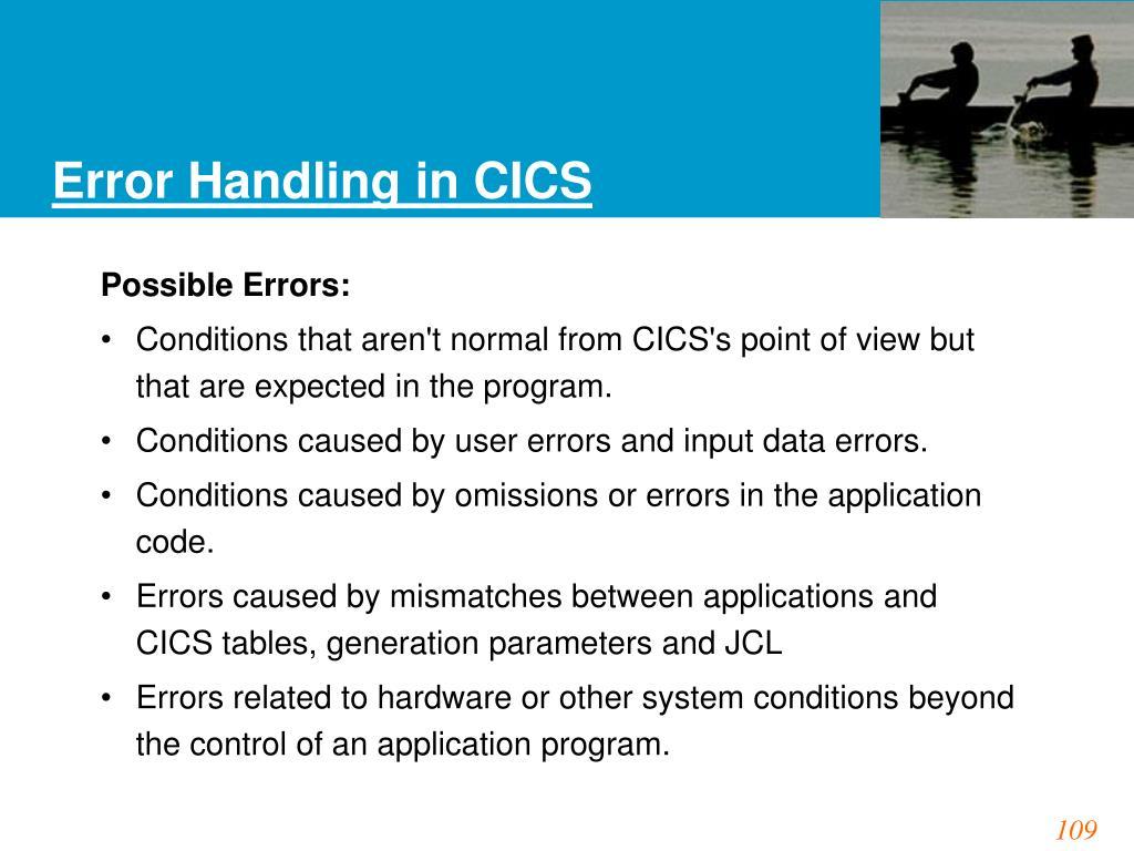 Error Handling in CICS