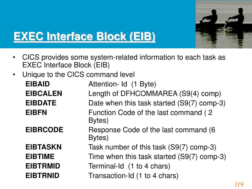 EXEC Interface Block (EIB)
