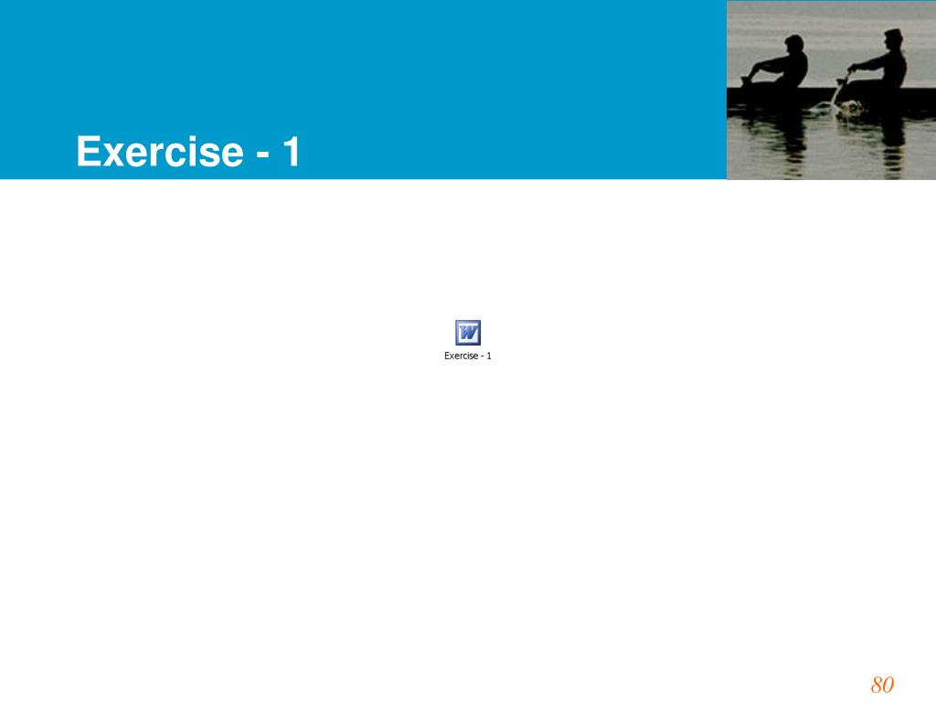 Exercise - 1