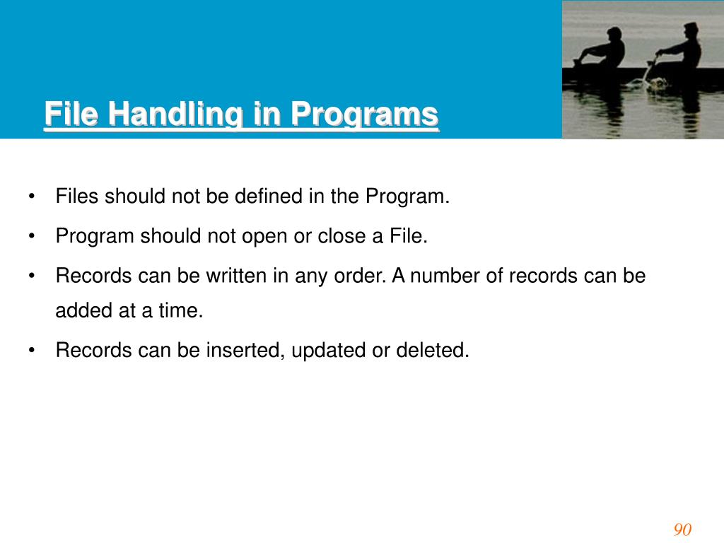 File Handling in Programs