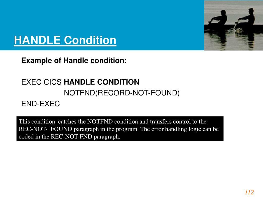 HANDLE Condition
