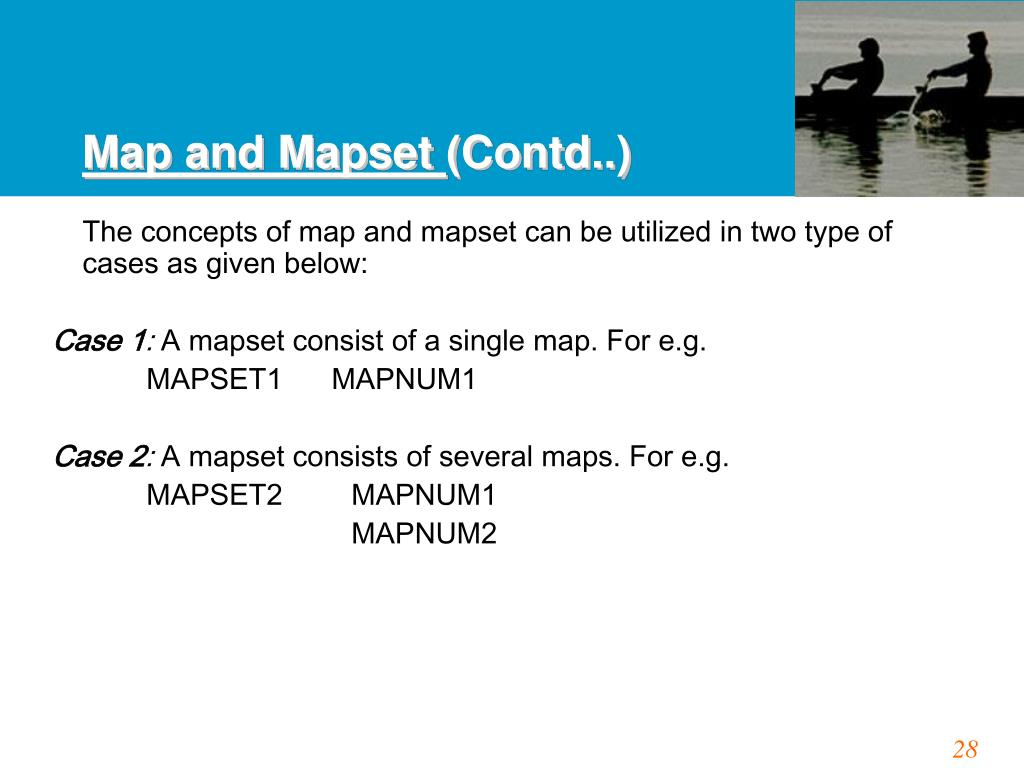 Map and Mapset