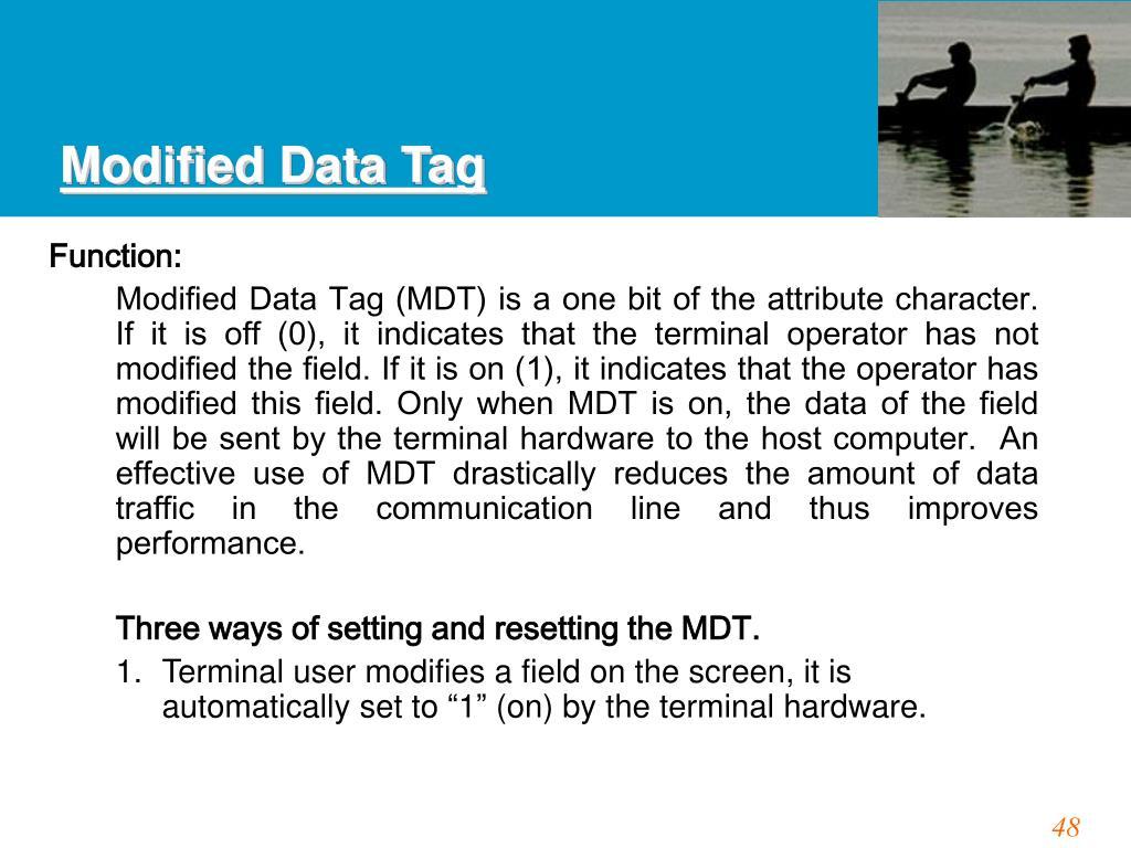 Modified Data Tag