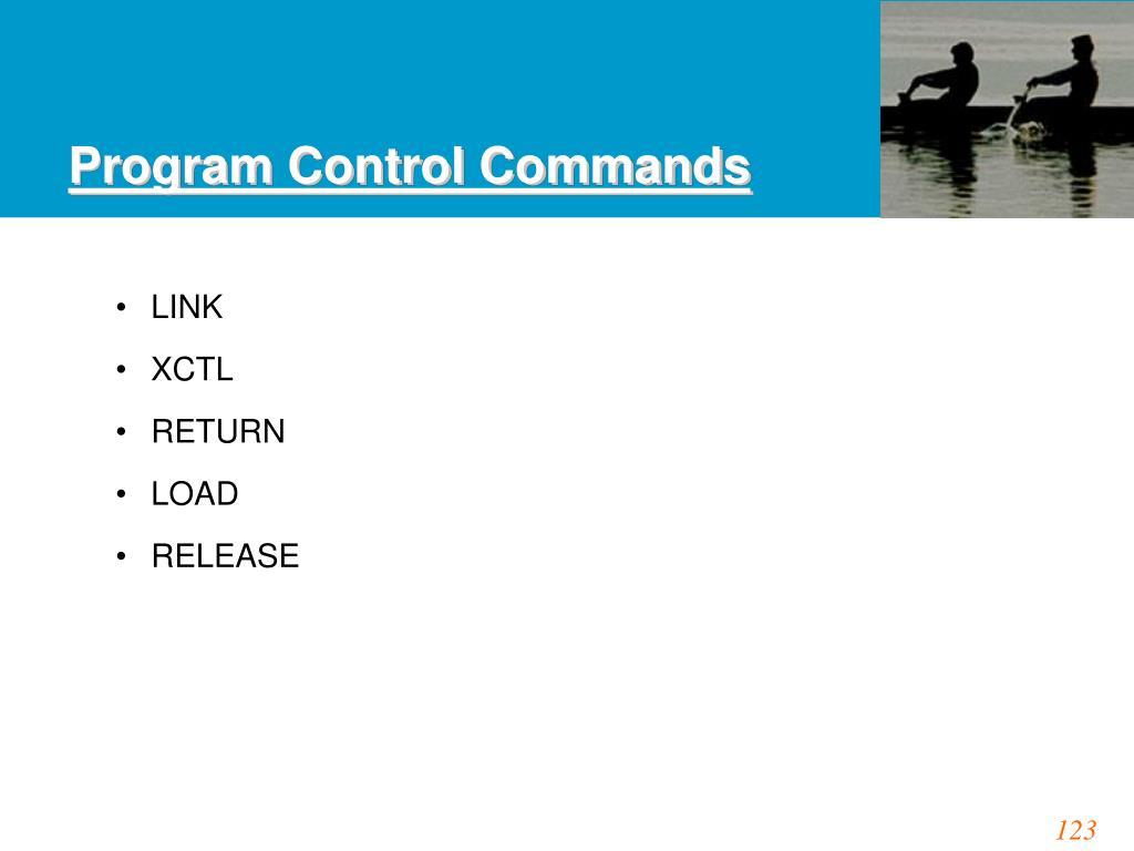 Program Control Commands