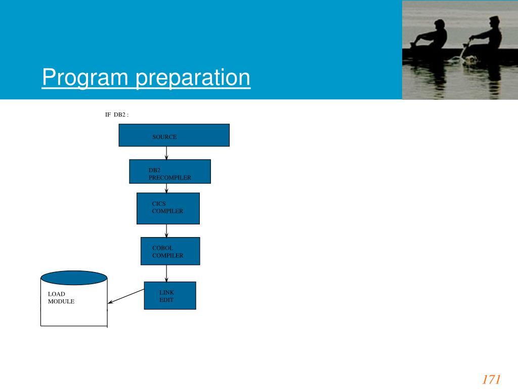 Program preparation