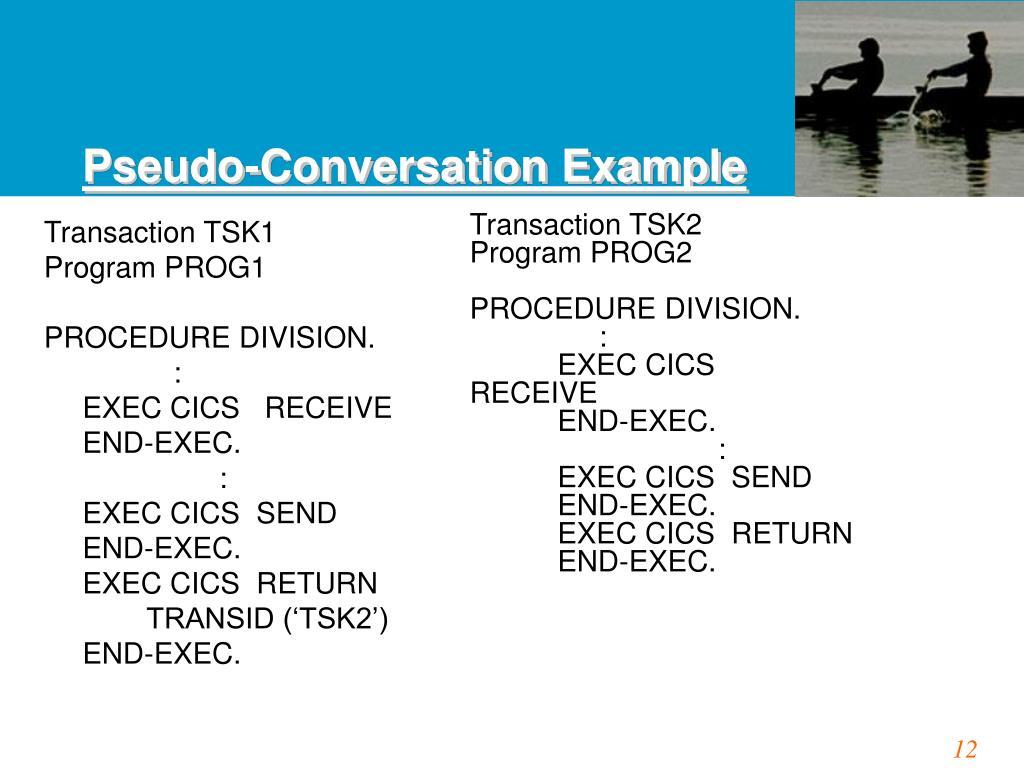 Pseudo-Conversation Example