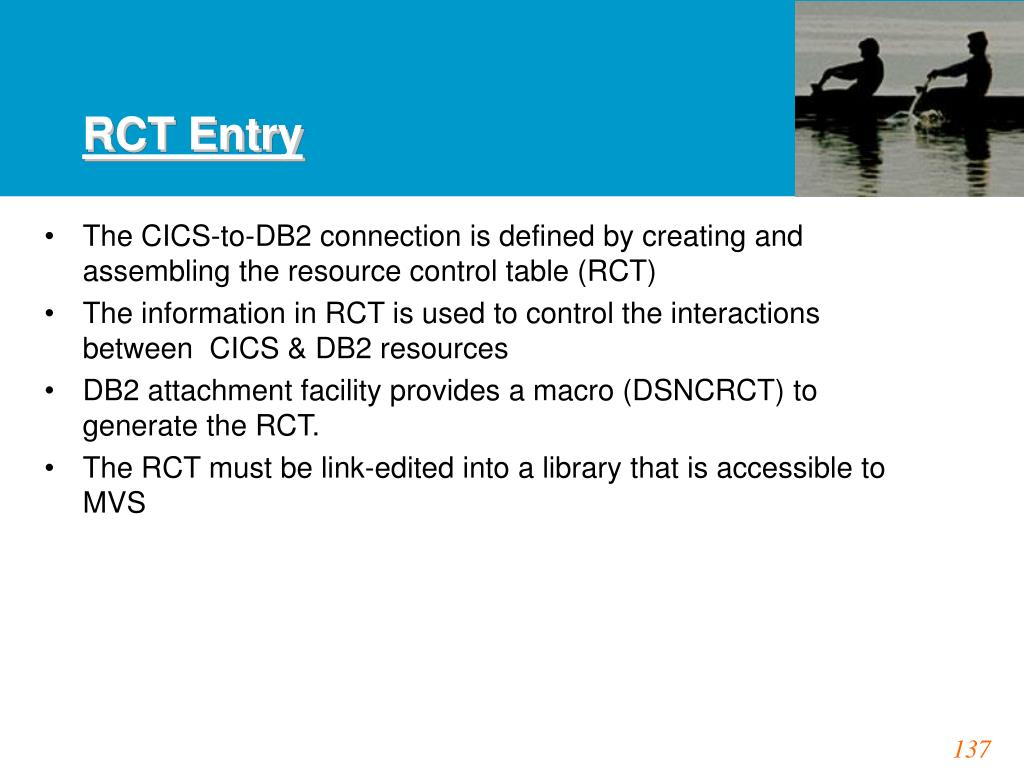 RCT Entry