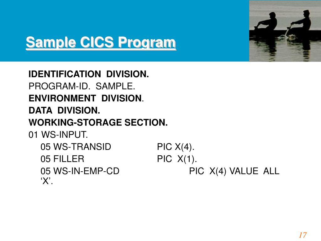 Sample CICS Program