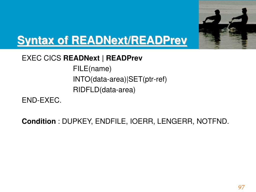 Syntax of READNext/READPrev