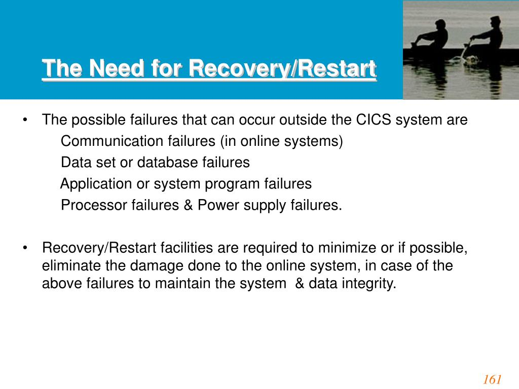 The Need for Recovery/Restart