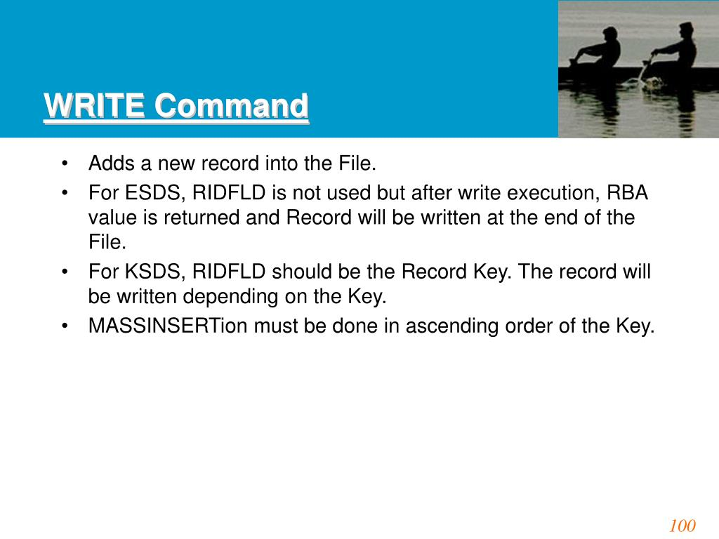 WRITE Command
