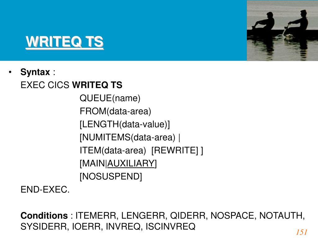 WRITEQ TS