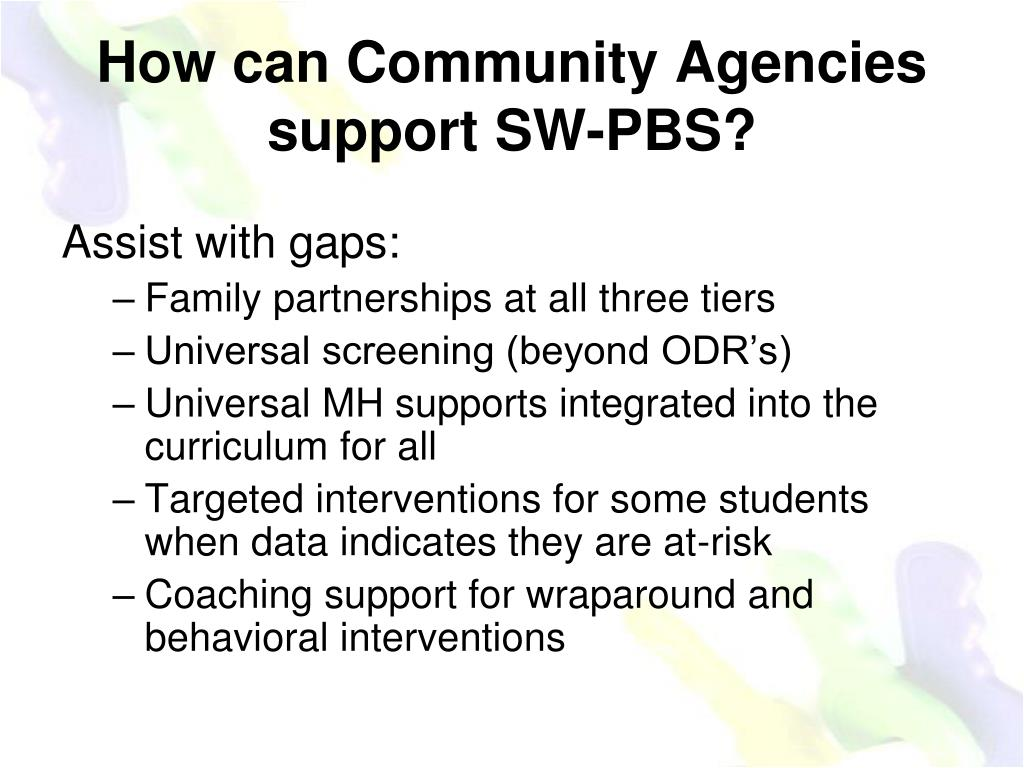 How can Community Agencies support SW-PBS?
