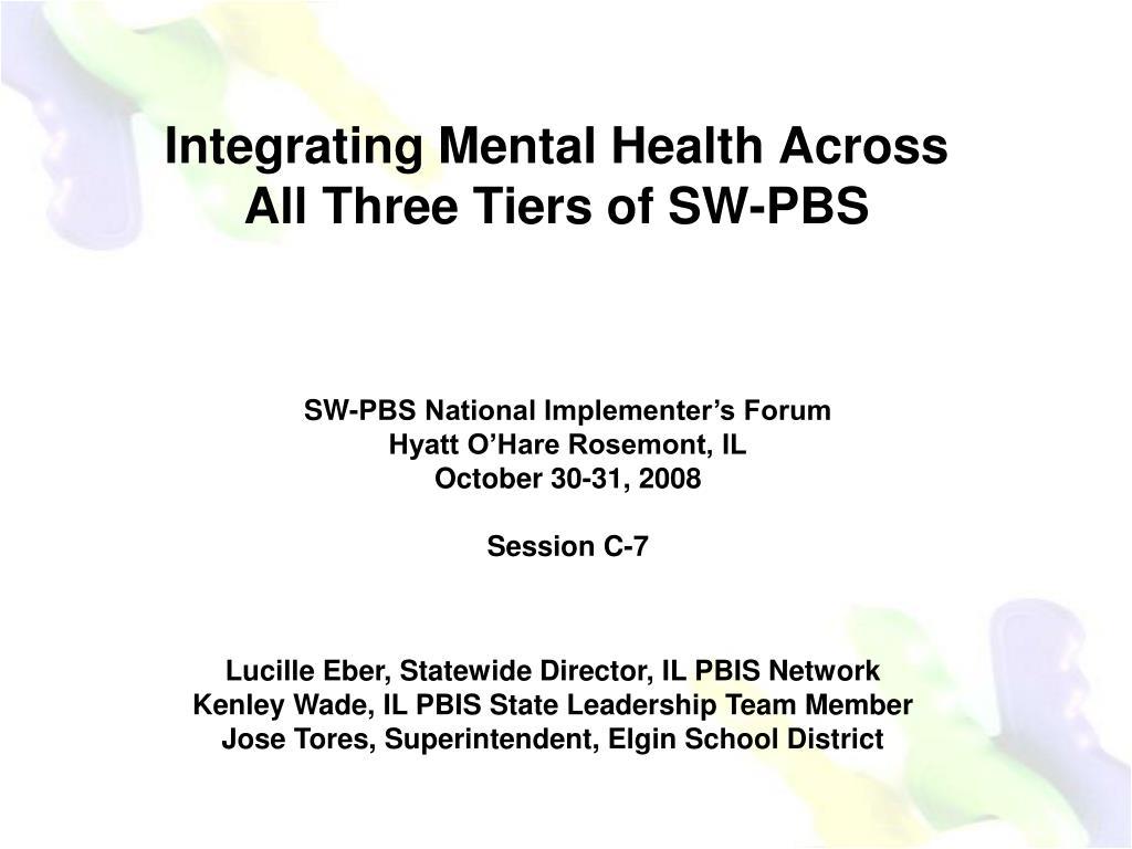 Integrating Mental Health Across