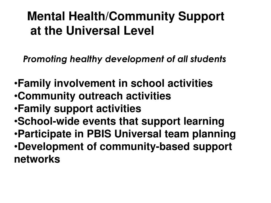 Mental Health/Community Support
