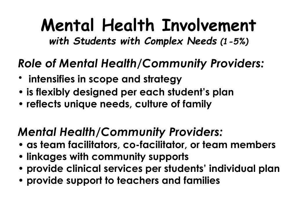Mental Health Involvement