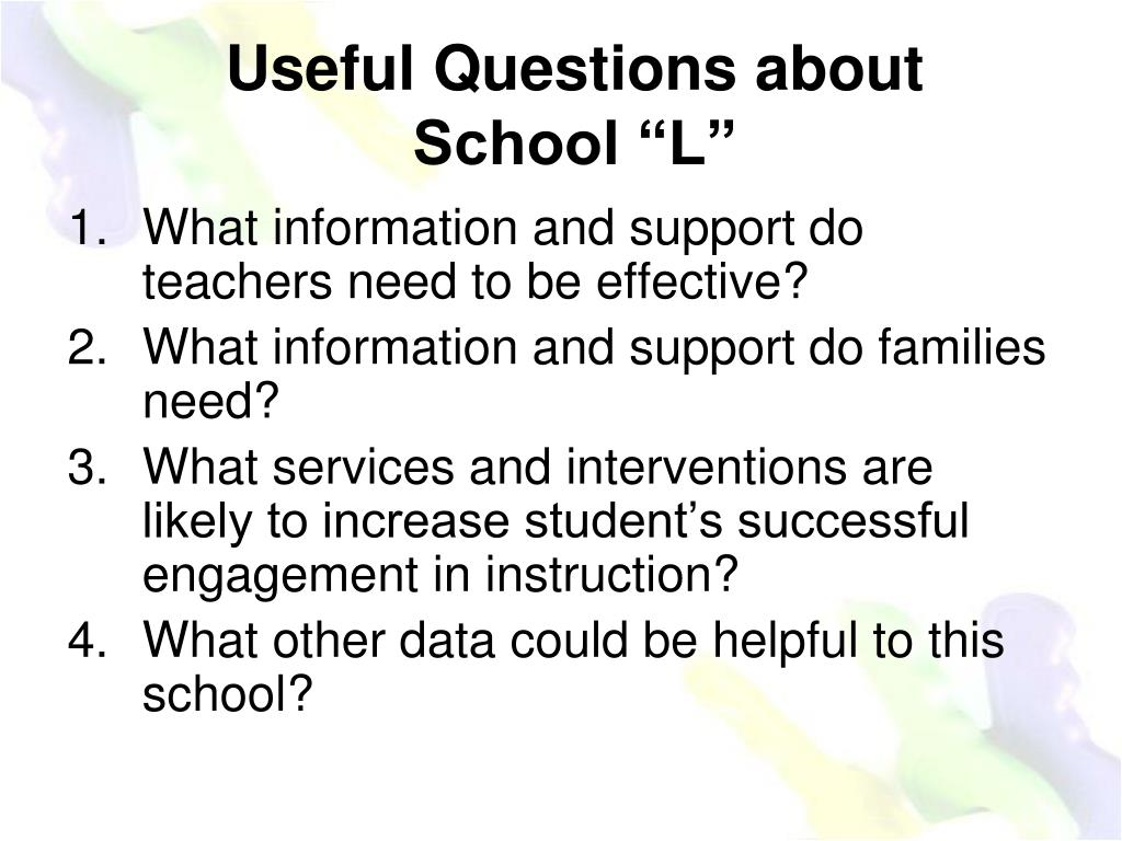 Useful Questions about