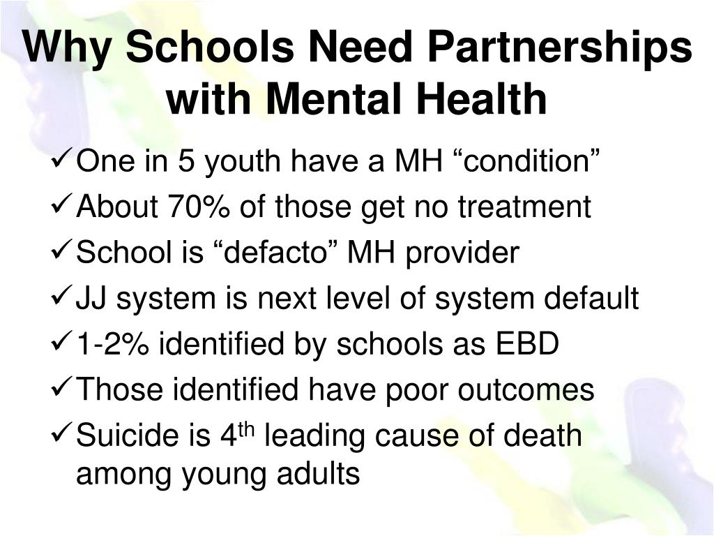 Why Schools Need Partnerships with Mental Health