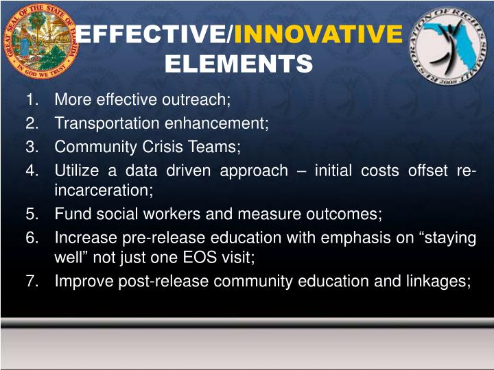 Effective innovative elements