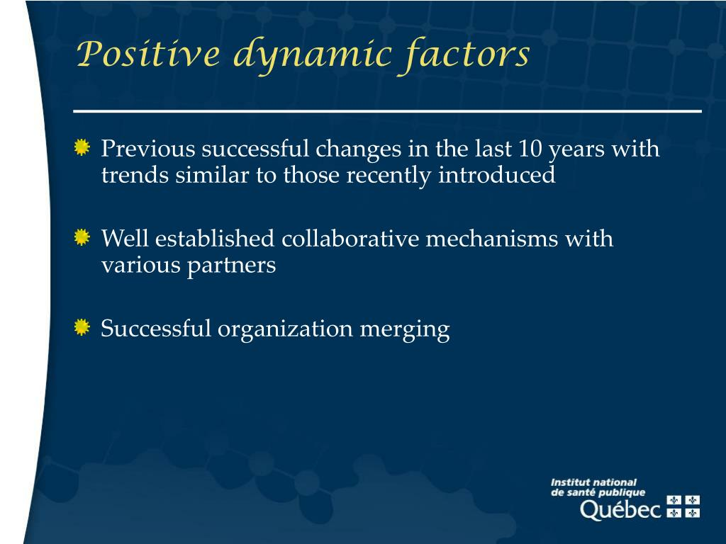 Positive dynamic factors