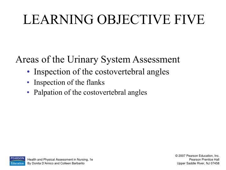 LEARNING OBJECTIVE FIVE
