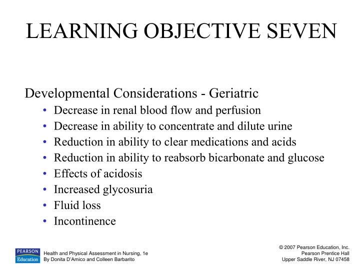 LEARNING OBJECTIVE SEVEN