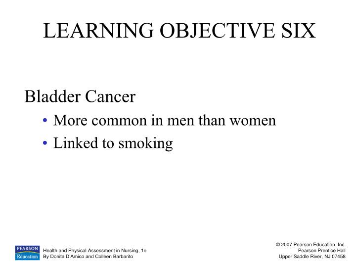 LEARNING OBJECTIVE SIX